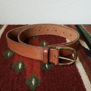J. Crew Tan Leather Belt - Size Small